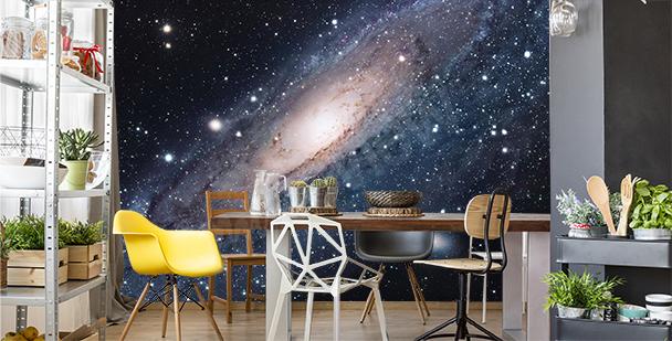 Papier peint galaxie pour salle à manger