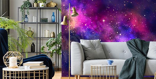 Papier peint galaxie pour salon