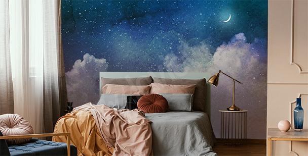 Papier peint galaxie remplie d'étoiles