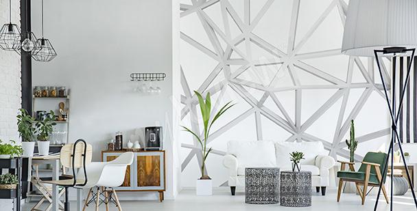 Papier peint géométrie blanche