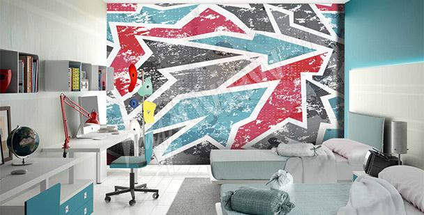 Papier peint graffiti en couleurs