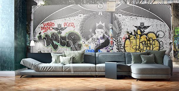 Papier peint graffiti Shanghai