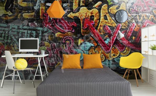Papier peint graffiti urbain