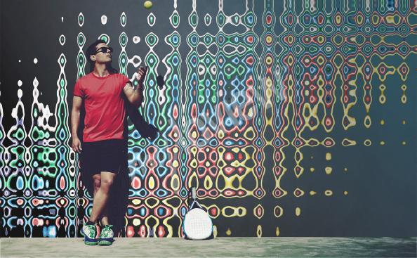 Papier peint illusion en couleurs