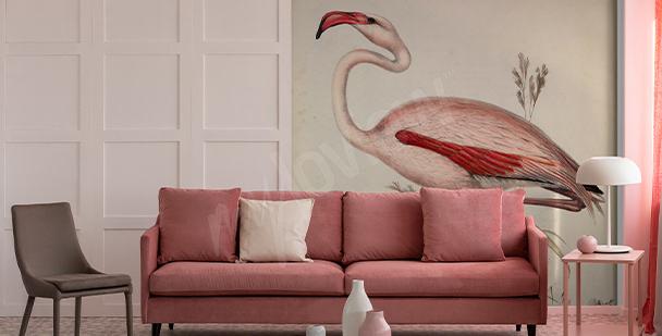 Papier peint oiseaux sur fond de payage