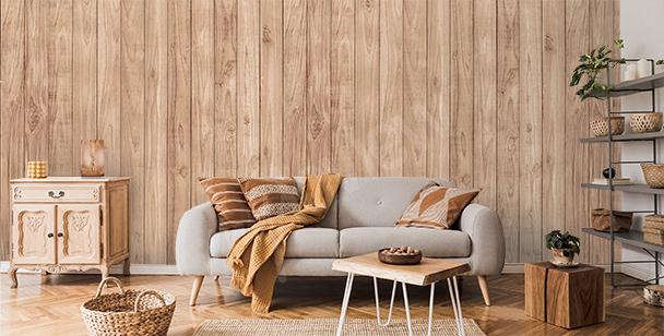Papier peint imitation bois pour salon