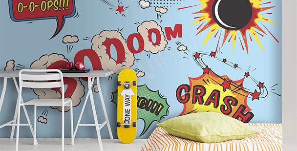 Papier peint inscription pop art