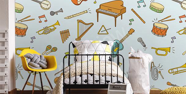 Papier peint instruments de musique