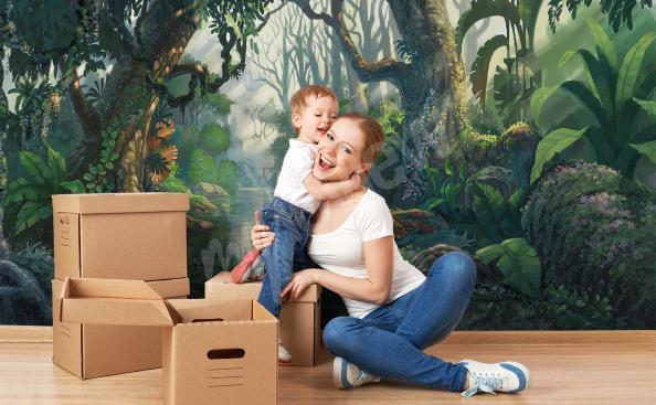 Papier peint jungle pour chambre d'enfant