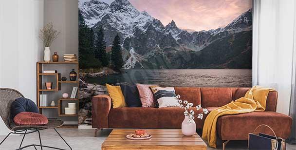 Papier peint paysage montagneux