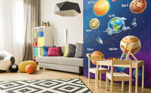 Papier peint le système solaire