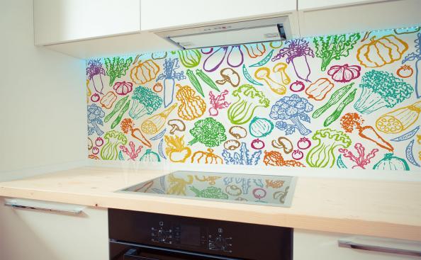 Papier peint légumes en couleurs