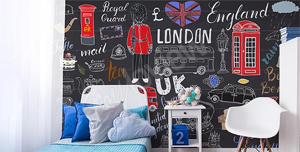 Papier peint Londres pour ado