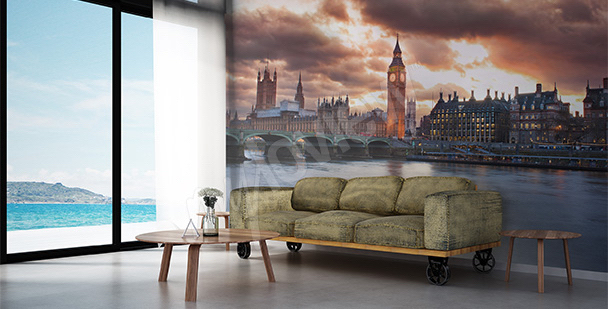 Papier peint Londres pour salon