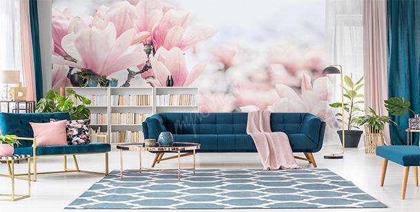 Papier peint magnolia macro
