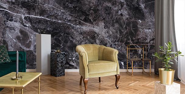 Papier peint marbre pour salon