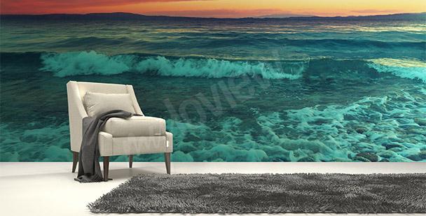 Papier peint mer et vagues