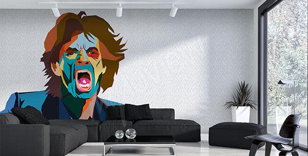 Papier peint Mick Jagger