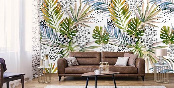 Papier peint moderne pour salon