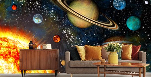 Papier peint planètes 3D
