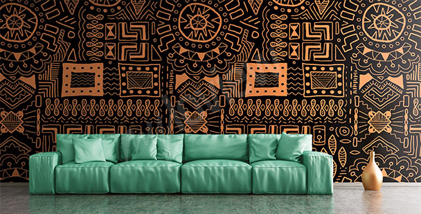 Papier peint motif ethno africain