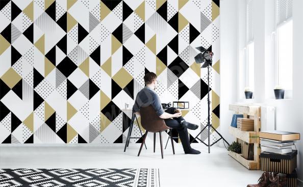 Papier peint motif géométrique