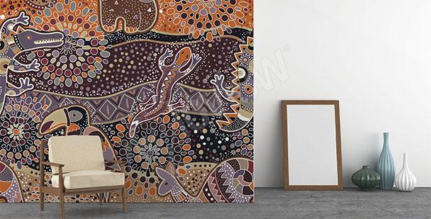 Papier peint motif traditionnel d'Australie