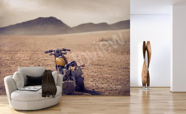 Papier peint moto et paysage