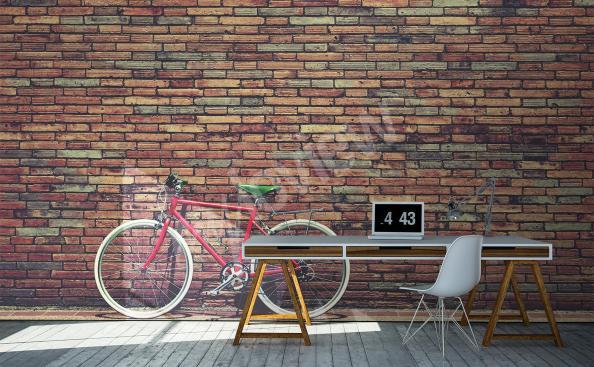 Papier peint mur et bicyclette
