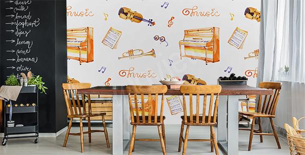Papier peint musical pour la cuisine