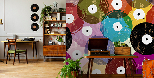 Papier peint musique en couleurs