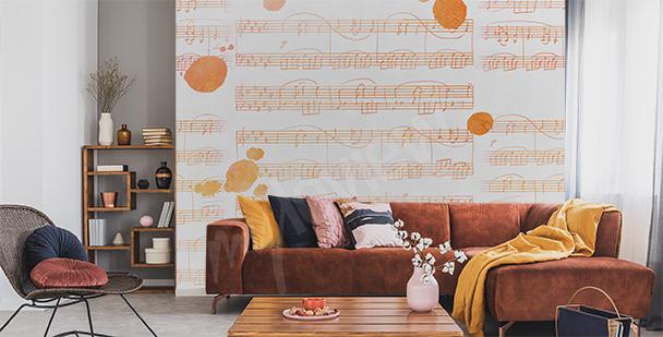 Papier peint musique pour salon