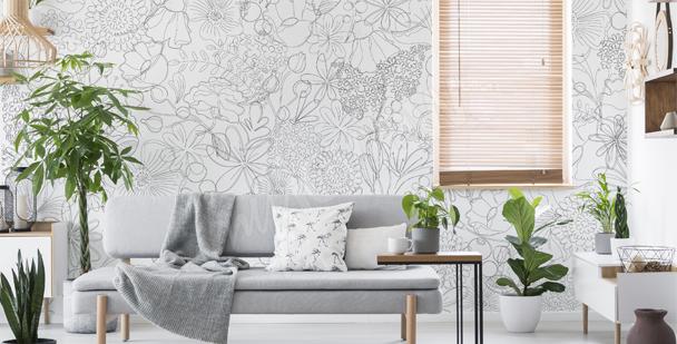 Papier peint nature et Line Art