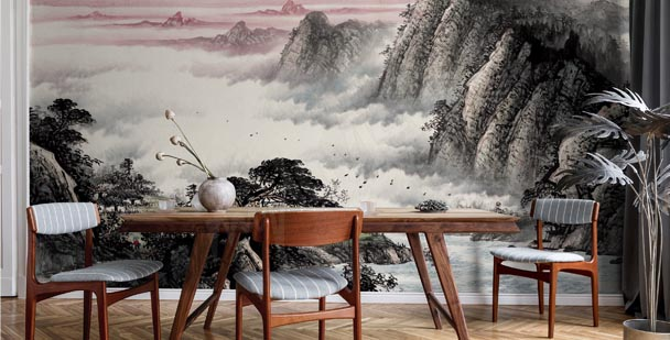 Papier peint nature bois