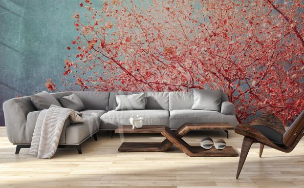 Papier peint nature style traditionnel