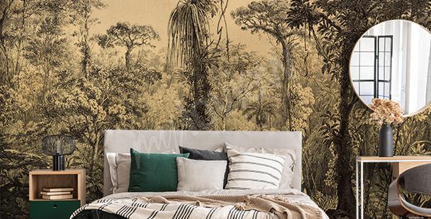 Papier peint nature vintage