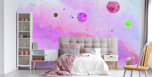 Papier peint néon galaxie