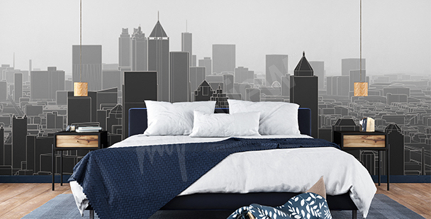Papier peint New York gratte-ciels