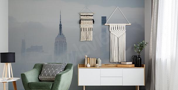 Papier peint New York dans le brouillard