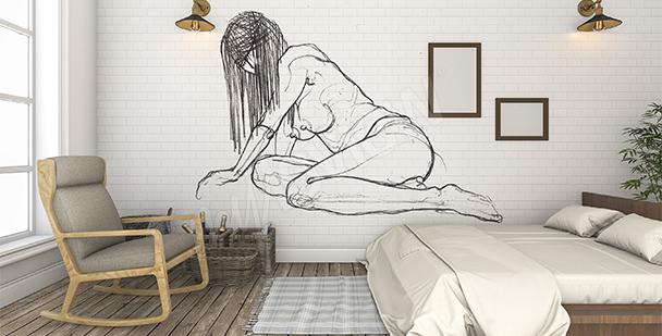 Papier peint nu chambre à coucher