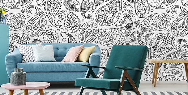 Papier peint motif marocain