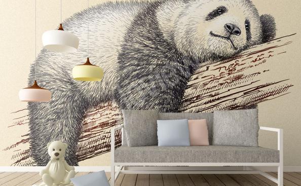 Papier peint panda pour chambre de l'enfant