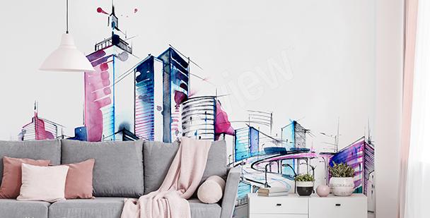 Papier peint panorama aquarelle