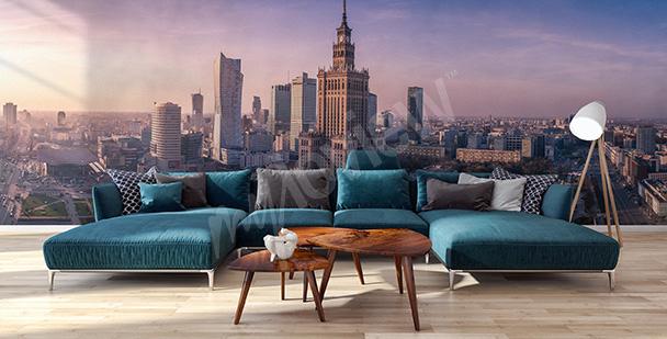 Papier peint panorama de Varsovie