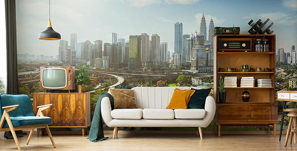 Papier peint panorama urbain en Malésie