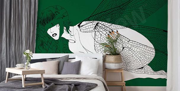 Papier peint papier peint avec des ailes