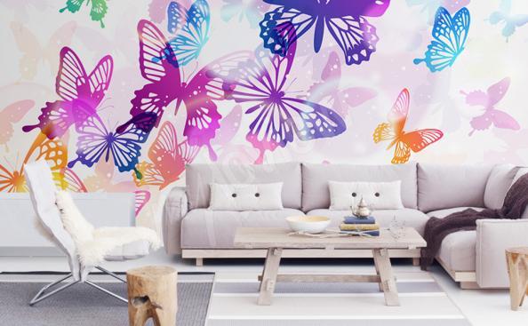 Papier peint papillon pour salon