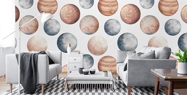 Papier peint la Terre vue du ciel