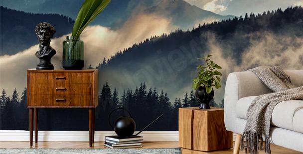 Papier peint paysage brumeux