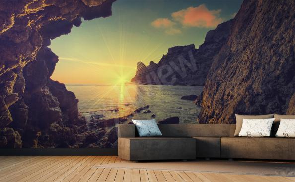 Papier peint paysage coucher de soleil